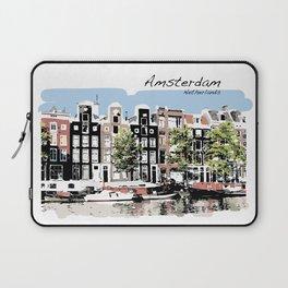 Amsterdam Netherlands Dutch Buildings Laptop Sleeve