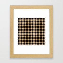 Burly Wood Bison Plaid Framed Art Print