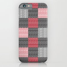 Red, White & Black Pattern Attack iPhone 6s Slim Case
