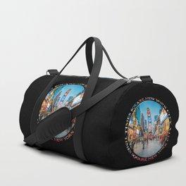 Times Square Sparkle (badge on black) Duffle Bag