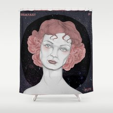 Breakfast on Pluto Shower Curtain