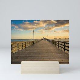 The Pier in Seal Beach Mini Art Print