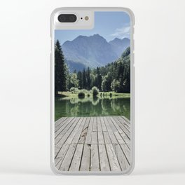 Green Lake nature Clear iPhone Case