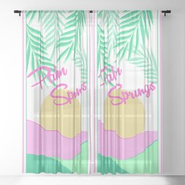 palm springs vacay Sheer Curtain