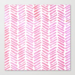 Handpainted Chevron pattern - pink and pink ;) Canvas Print