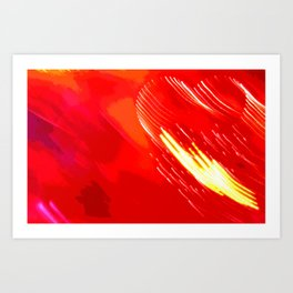 Valentine Heartquake Art Print