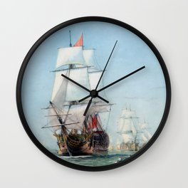 First Journey Of The HMS Victory Wall Clock