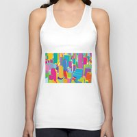 cityscape Tank Tops featuring Cityscape by Glen Gould