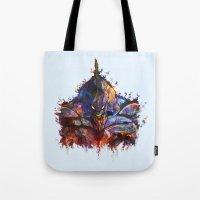 evangelion Tote Bags featuring Evangelion by ururuty