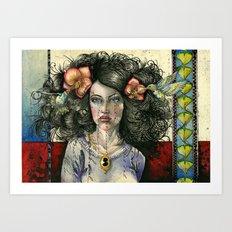 She Had Hummingbirds in Her Hair Art Print