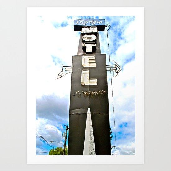 Historic motel sign Art Print