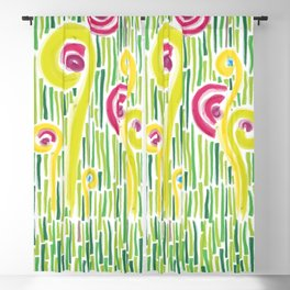 Spring in the backyard (of shapes and colors) Blackout Curtain