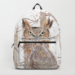 "Watercolor Painting of Picture ""Owl in the Forest"" Backpack"