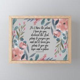 Jeremiah 29:11 Framed Mini Art Print