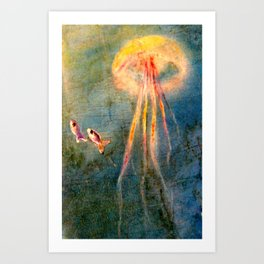 Glow of the jellyfish Art Print