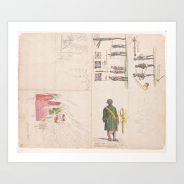 Reception of envoys of the king Kandy, 1785, Jan Brandes, 1785 - 1786 Art Print