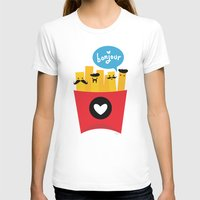 french fries T-shirts featuring French Fries by Reg Silva / Wedgienet.net