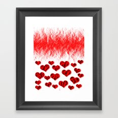 Hearts Abstract Pattern Framed Art Print