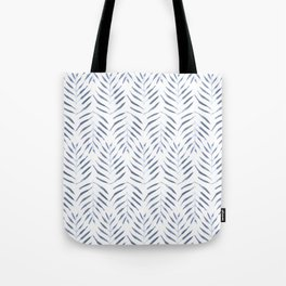 Palm Trees in blue Tote Bag