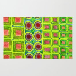 Connected filled Squares Fields Rug