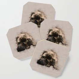 Bullmastiff Puppy Sketch Coaster