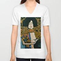 klimt V-neck T-shirts featuring Judith - Ode to Klimt  by LadyJennD