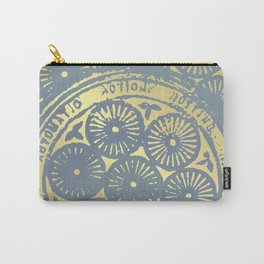 power of one: coal grey & gold Carry-All Pouch