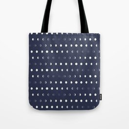 Waxing and Waning Phases of the Moon Pattern Tote Bag