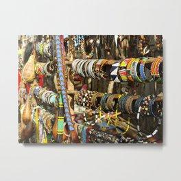 African jewelry Metal Print