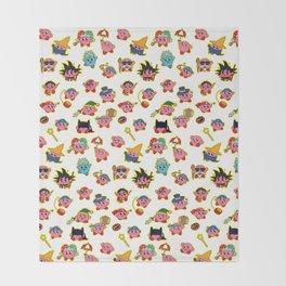 Kirby is swallowing everyone in here. Throw Blanket
