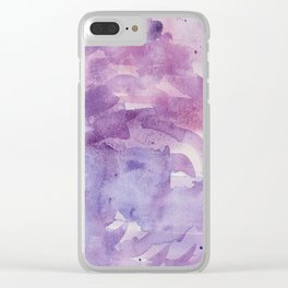 Plums and Pinks Clear iPhone Case
