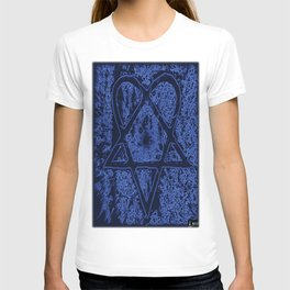 Nightfall Blue Heartagram T-shirt