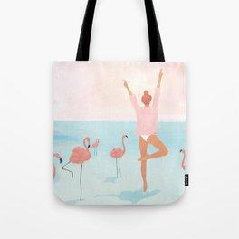 Big Flamingo Tote Bag