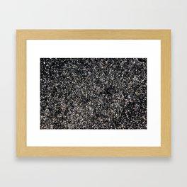 Sand at Cobblestone Beach Framed Art Print