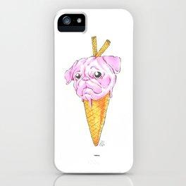 Pug Ice Cream iPhone Case