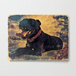 Staffy love Metal Print