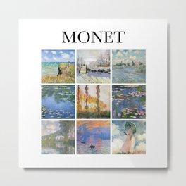 Monet collage Metal Print
