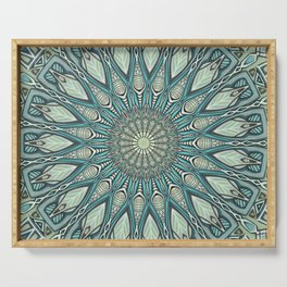 Eye of the Needle Mandala Art Serving Tray
