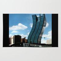 buildings Area & Throw Rugs featuring Buildings by Kathleen Stephens
