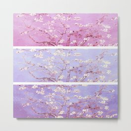 Vincent Van Gogh : Almond Blossoms Lavender Panel Art Metal Print