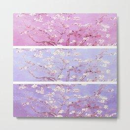 Vincent Van Gogh : Almond Blossoms Lavender Panel Art Metal Print