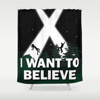i want to believe Shower Curtains featuring I want to believe by BomDesignz