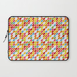 Rainbow gems geometric pattern, hexagon abstract colorful diamonds Laptop Sleeve