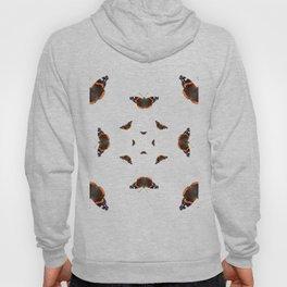 "Butterflies of the specie ""Vanessa atalanta"" Hoody"