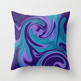 Illusion turquoise pillow Throw Pillow