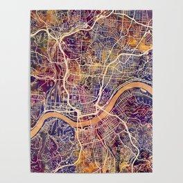 Cincinnati Ohio City Map Poster