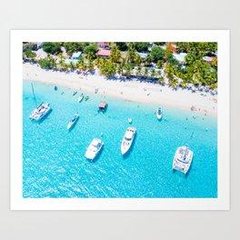 Boats IN the Tropics Art Print