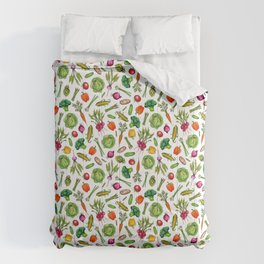 Vegetable Garden - Summer Pattern With Colorful Veggies Comforters