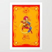 The Battle of Red Cliffs - The Red Warrior Beauty - Sun Shang Xiang Art Print