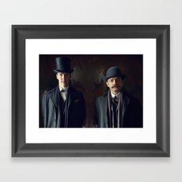 Holmes and Watson Framed Art Print